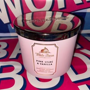 Pink lilac & vanilla 3 wick candle
